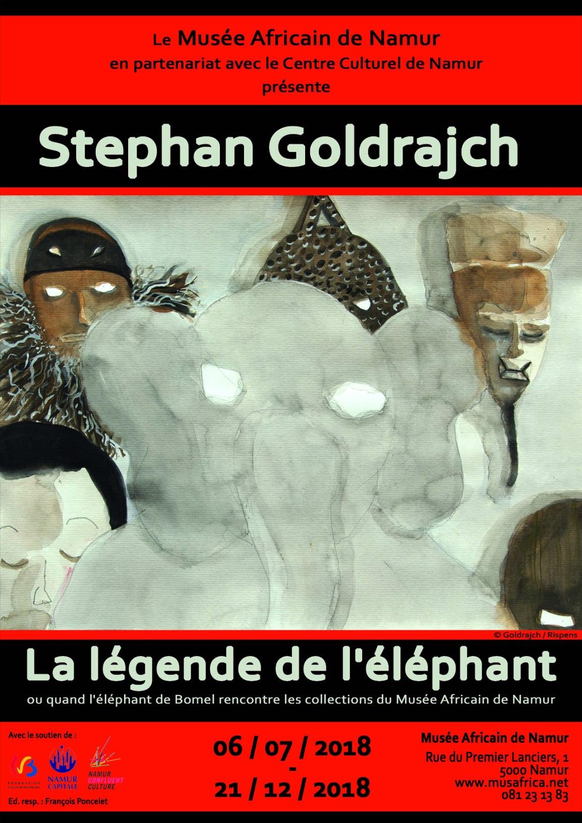 6 juillet, 18h00 : inauguration de l'exposition Stephan Goldrajch. La légende de l'éléphant.